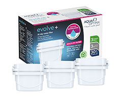 "Aqua Optima Filter 3 Piece Pack Plastic White 30 Day ""Evolve+"""