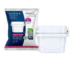 "Aqua Optima Filter Single Plastic White 30 Day ""Evolve+"""