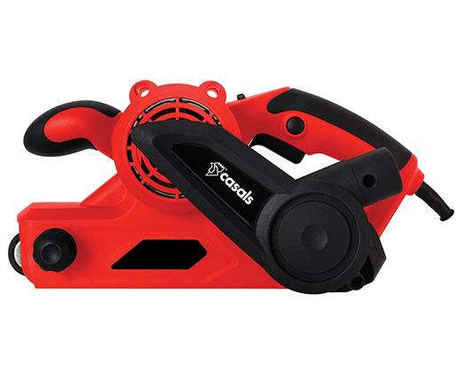 Casals Belt Sander 6 Speed With Dust Bag Plastic Red 76x533mm 810W