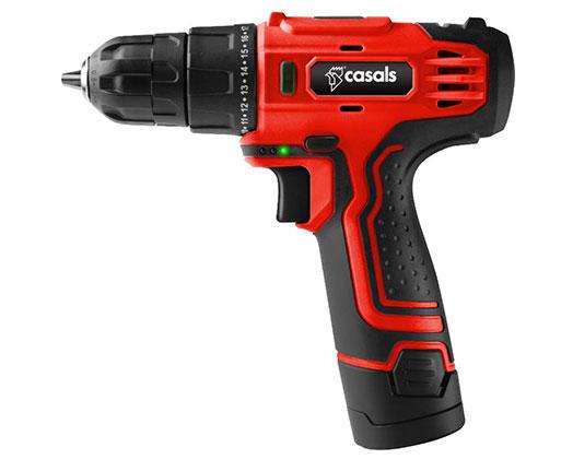 Casals Drill Cordless Plastic Red 10mm 12V