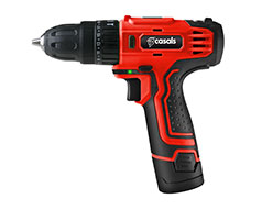 Casals Drill Cordless With Extra Battery Plastic Red 10mm 12V