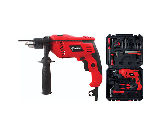 Casals Drill Impact Plastic Red 50pc Accessory 13mm Variable Speed 600W