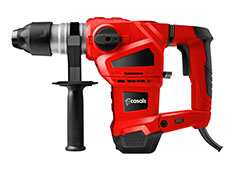 Casals Drill Rotary Hammer With Auxiliary Handle Plastic Red 3 Function 1500W
