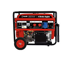 Casals Generator Electric / Recoil Start Steel Red Single Phase4 Stroke 5700W