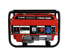 Casals Generator Recoil Start Steel Red Single Phase 4 Stroke 2000W