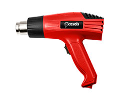 Casals Heat Gun With 4 Piece Nozzles Plastic Red 2 Speed 2000W