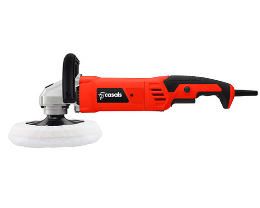 Casals Sander Polisher With Auxiliary Handle Plastic Red 180mm 1200W