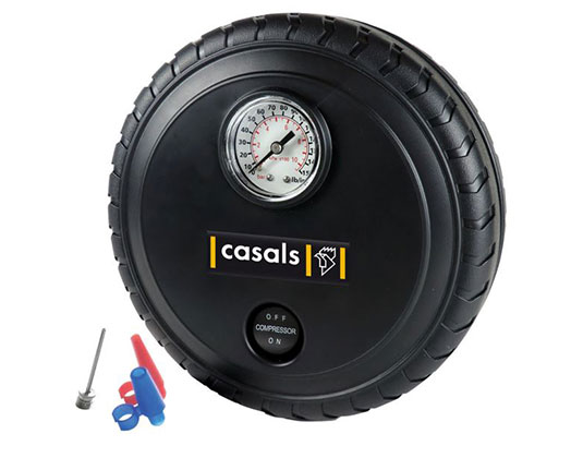 Casals Tyre Inflator With Pressure Gauge Plastic Black 250PSI 12V / 140W