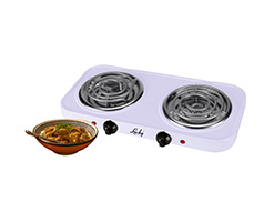2000W White Double Spiral Hotplate