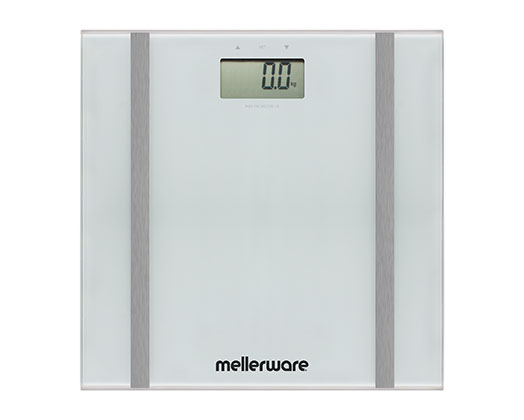 "Mellerware Bathroom Scale Auto Off Glass 150 kg 3V ""Bodymax"""