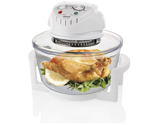 "Mellerware Convection Cooker Adjustable Temperature Glass White 12L 1400W ""Turbo Cook"""