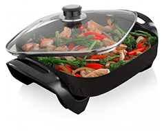 "Mellerware Frying Pan Electric Non-Stick Black 30 X 30cm 1400W ""Odiseo"""