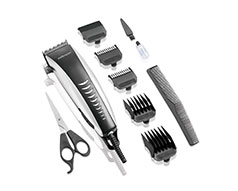 "Mellerware Hair Clipper 12 Piece Set Plastic Silver 10W ""Swift"""