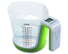 "Mellerware Measuring Cup Digital Plastic Green 1L 3V ""JugStir"""