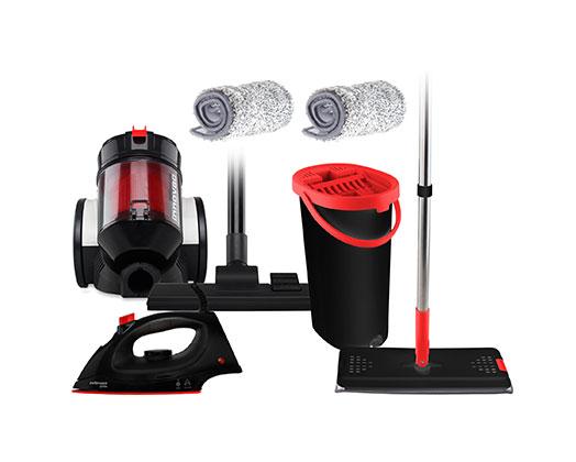 "Mellerware Pack 3 Piece Vacuum Cleaner+Iron+Mop ""Maid To Work"""