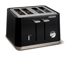 Aspect 4 Slice 1800W Black Toaster