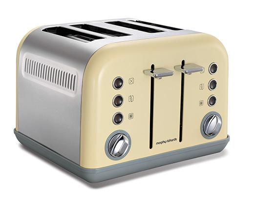 Cream Accents 4 Slice Toaster