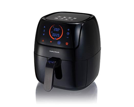 "Morphy Richards Air Fryer Digital Plastic Black 3L 1400W ""Health Fryer"""