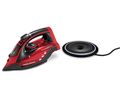 "Morphy Richards Iron Cordless Ceramic Red 350ml 2400W ""easyCHARGE 360"""