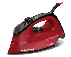 "Morphy Richards Iron Steam / Dry / Spray Ceramic Red 350ml 2400W ""Breeze"""