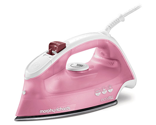 """Morphy Richards Iron Steam / Dry / Spray Stainless Steel Pink 350ml 2400W """"Easy Fill"""""""