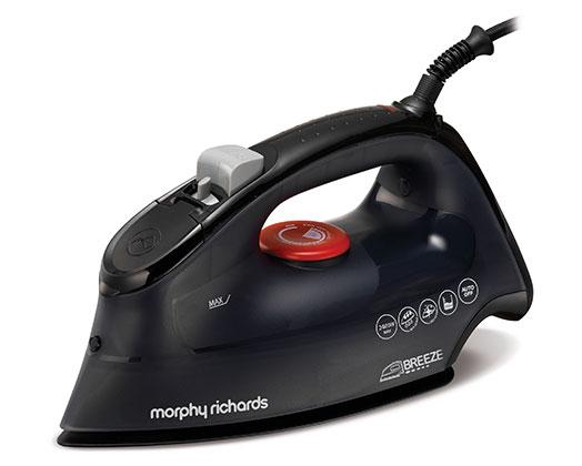 "Morphy Richards Iron Steam / Dry / Spray Ceramic Black 350ml 2400W ""Breeze"""