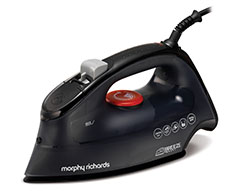 "Morphy Richards Iron Steam / Dry / Spray Ceramic Black 350ml 2400W ""Breeze"""