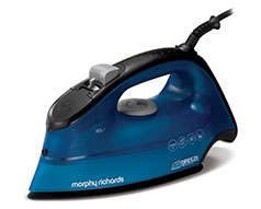 "Morphy Richards Iron Steam / Dry / Spray Ceramic Blue 350ml 2400W ""Breeze"""