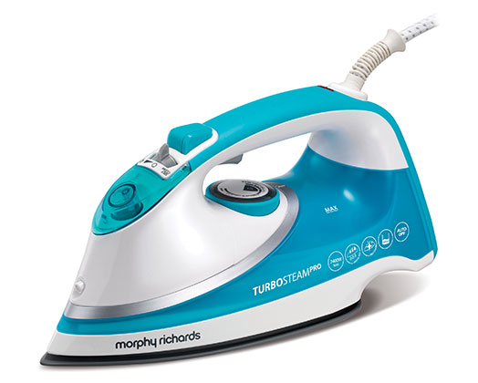 "Morphy Richards Iron Steam / Dry / Spray Ceramic Blue 400ml 2400W ""Turbosteam"""