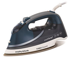 "Morphy Richards Iron Steam / Dry / Spray Stainless Steel Blue 400ml 3100W ""Turbo Steam Pro"""