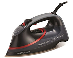 "Morphy Richards Iron Steam / Dry / Spray Ceramic Black 400ml 3100W ""Turbosteam Pro"""