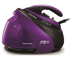 "Morphy Richards Iron Steam Station Ceramic Purple 1.8L 3000W ""Speed Steam"""