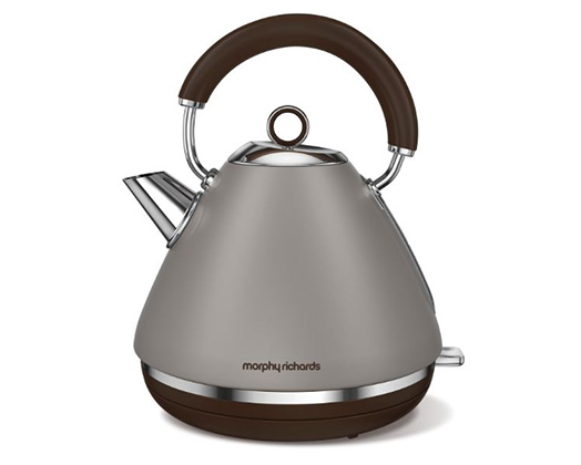 "Morphy Richards Kettle 360 Degree Cordless Stainless Steel Pebble 1.5L 2200W ""Accents"""