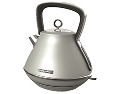 "Morphy Richards Kettle 360 Degree Cordless Stainless Steel Platinum 1.5L 2200W ""Evoke"""