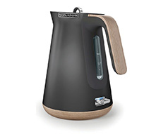"Morphy Richards Kettle 360 Degree Cordless Stainless Steel Titanium 1.5L 2200W ""Aspect Wood Trim"""