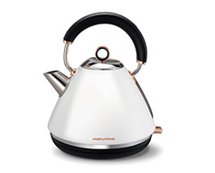 "Morphy Richards Kettle 360 Degree Cordless Stainless Steel White 1.5L 2200W ""Accent Rose Gold"""