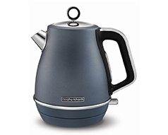 "Morphy Richards Kettle Jug 360 Degree Cordless Stainless Steel Blue 1.5L 3000W ""Evoke"""