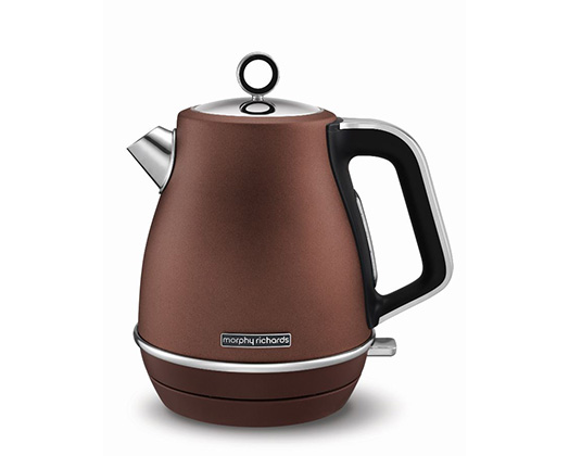 "Morphy Richards Kettle Jug 360 Degree Cordless Stainless Steel Bronze 1.5L 3000W ""Evoke"""