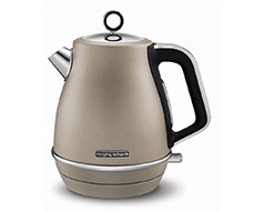 "Morphy Richards Kettle Jug 360 Degree Cordless Stainless Steel Platinum 1.5L 3000W ""Evoke"""