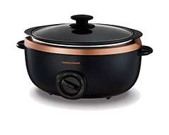 "Morphy Richards Slow Cooker Manual Aluminium 6.5L 163W ""Sear and Stew"""