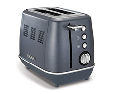 "Morphy Richards Toaster 2 Slice Stainless Steel Blue 900W ""Evoke"""