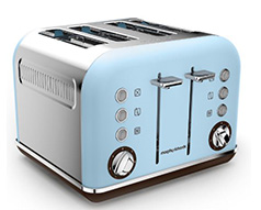 "Morphy Richards Toaster 4 Slice Stainless Steel Azure 1800W ""Accents"""