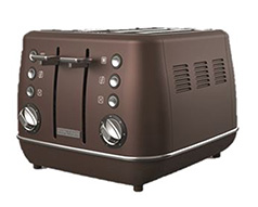 "Morphy Richards Toaster 4 Slice Stainless Steel Bronze 1800W ""Evoke"""