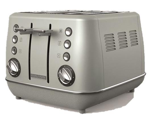 "Morphy Richards Toaster 4 Slice Stainless Steel Platinum 1800W ""Evoke"""