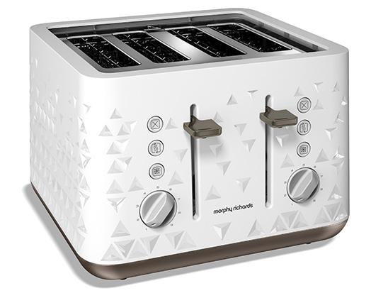 White 4 Slice 1800W Prism Toaster