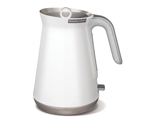 1.5L Stainless Steel White Aspect Kettle
