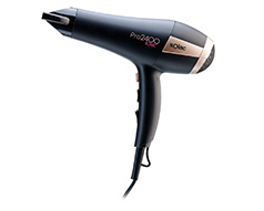 "Solac Hair Dryer 3 Heat Settings Plastic Black 2 Speed 2400W ""Ionic"""