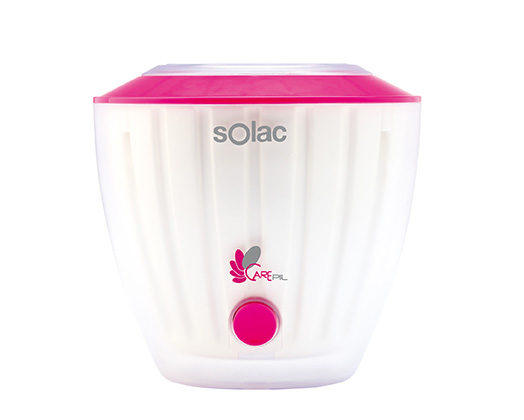 "Solac Wax Heater Single Tub Pink W ""Carepil"""