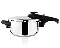 "Taurus Pressure Cooker With Valve Pressure Controller Stainless Steel 4l ""Ontime Rapid"""