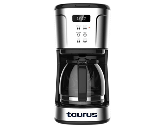 Taurus Coffee Maker Digital Stainless Steel Brushed 1.5L 1000W